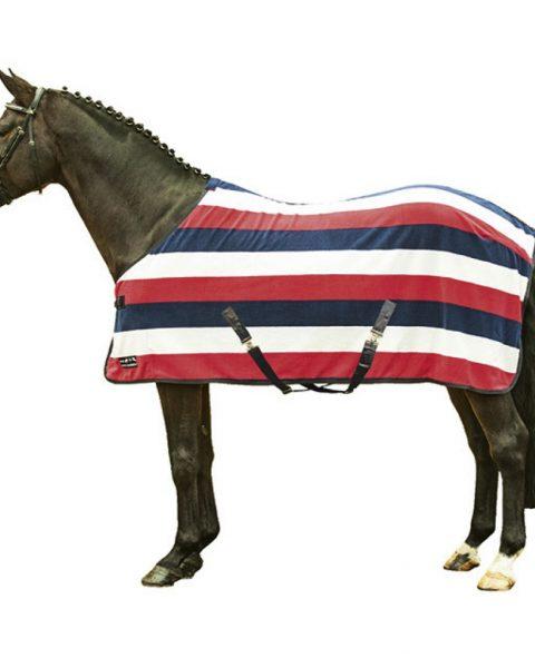 HKM Abschwitzdecke Fashion Stripes mit Kreuzgurten