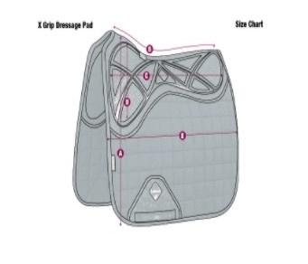 LeMieux X-Grip Twin-Sided Dressur-Schabracke